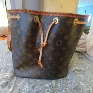 Lv monogram leather hobo bag